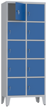 00150508 Szafa skrytkowa na nogach, 2 segmenty, 10 skrytek (wymiary: 2010x810x480 mm)