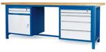 00853650 Stół warsztatowy, 1 drzwi, 7 szuflad (wymiary: 2100x900x740 mm)