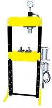 44358872 Prasa Hydrauliczna, pneumatyka, ruchomy tłok, regulowany stół (siła nacisku: 10 T)