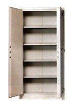 77157067 Szafa biurowa wzmocniona, 1 drzwi, 4 półki z blachy (wymiary:  1800x900x460 mm)