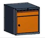 99551585 Szafka typ S, 1 drzwi, 1 szuflada 150 (wymiary: 625x600x690 mm)