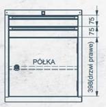 99551641 Szafka typ T, 2 szuflady, 1 drzwi (wymiary: 625x520x550 mm)