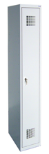 99551939 Szafka ubraniowa 0,5mm, 1 drzwi, zamek cylindryczny zamykany w 1 punkcie (wymiary: 1800x400x500 mm)