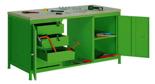 99552449 Stół warsztatowy, 4 szuflady, 2 drzwi (wymiary: 850x1600x750 mm)