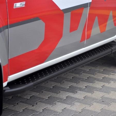 01656160 Stopnie boczne, czarne - Porsche Cayenne 2010- (długość: 193 cm)