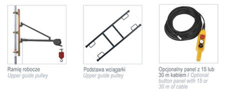 DOSTAWA GRATIS! 08115160 Wciągarka budowlana, linowa elektryczna + lina 30m + sterowanie ręczne 1,5m (udźwig: 500 kg)
