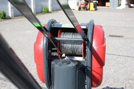 DOSTAWA GRATIS! 08115162 Wciągarka elektryczna linowa budowlana + lina 30m + sterowanie ręczne 1,5m (udźwig: 500 kg)