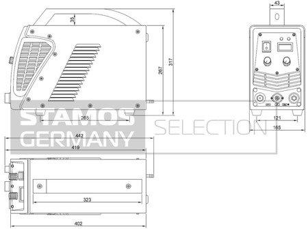 DOSTAWA GRATIS! 45643383 Przecinarka plazmowa Stamos 230V, 1-Fazowe (prąd cięcia: 10-55A. grubość /szerokość cięcia: 17 /1mm)