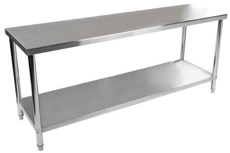 DOSTAWA GRATIS! 4564349 Stół roboczy ze stali nierdzewnej bez kantu Royal Catering (wymiary: 200 x 60 x 85 cm)