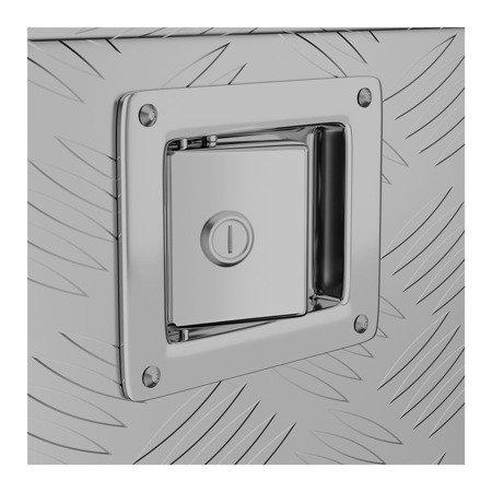 DOSTAWA GRATIS! 45674786 Skrzynka narzędziowa MSW - aluminium - 150 l (wymiary: 124 x 38,5 x 38,5 cm)