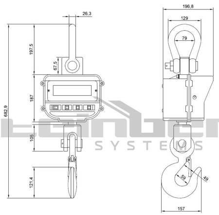 DOSTAWA GRATIS! 45674866 Waga hakowa Steinberg Systems (udźwig: 5000 kg)