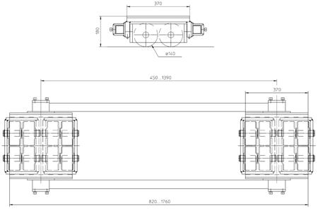 DOSTAWA GRATIS! 4994002 Podwozie transportowe (nośność: 40T)