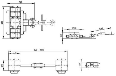 DOSTAWA GRATIS! 49972672 Zestaw podwozi transportowych (nośność: 12T)