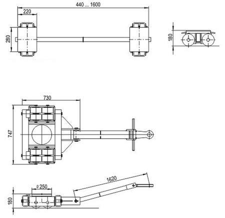 DOSTAWA GRATIS! 49972677 Zestaw podwozi transportowych (nośność: 40T)