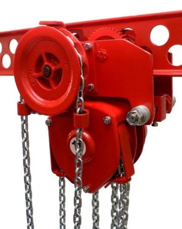 DOSTAWA GRATIS! 9588158 Wciągnik łańcuchowy przejezdny - z atestem ATEX (udźwig: 2,5 T, wysokość podnoszenia: 3m, zakres toru jeznego: 98-143 mm)