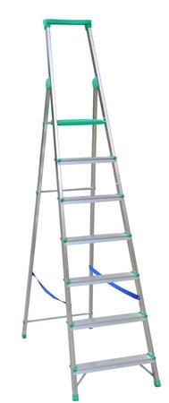 DOSTAWA GRATIS! 99674664 Drabina wolnostojąca Drabex 5 stopniowa z półką i haczykiem (wysokość robocza: 3,07m)