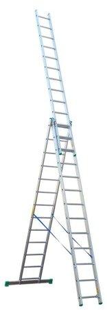 DOSTAWA GRATIS! 99674946 Drabina aluminiowa 3x12 Drabex na schody (wysokość robocza: 8,80m)