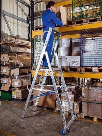 DOSTAWA GRATIS! 99675016 Drabina magazynowa KRAUSE Stabilo z dużym podestem (wysokość robocza: 5,30m)