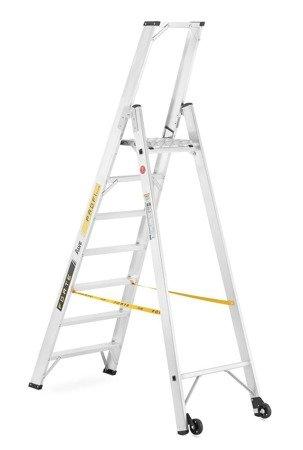 DOSTAWA GRATIS! 99675097 Drabina montażowa jednostronna ALOSS z dwoma kółkami (wysokość robocza: 3,48m)