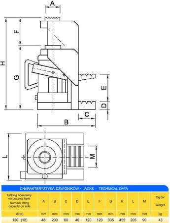 Podnośnik z bocznym podnoszeniem (udźwig: 12T) 62725744