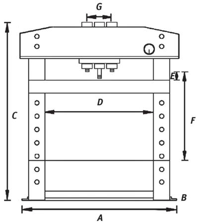 Prasa hydrauliczna Unicraft (siła nacisku: 50 t) 32240226