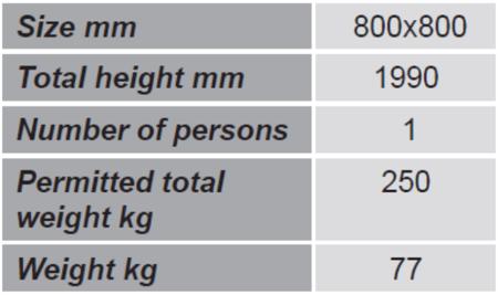 SWARK Kosz roboczy do wózka widłowego GermanTech (wymiary: 800x800 mm) 99724902