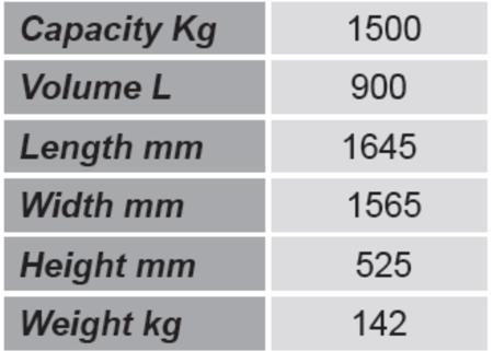SWARK Niski pojemnik GermanTech (pojemność: 900 L) 99724699
