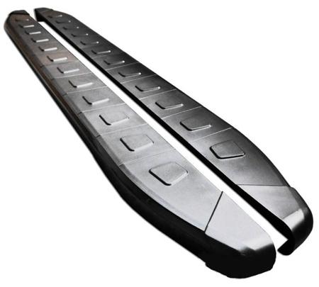 Stopnie boczne, czarne - Kia Sportage 2004-2009 (długość: 171 cm) 01655923