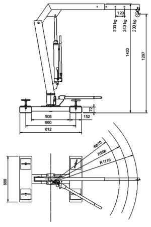Tretok Żuraw do wózka widłowego (udźwig: 300 kg) 61730189