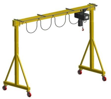 Wciągarka bramowa skręcana miproCrane DELTA 300, wciągnik łańcuchowy elektryczny zintegrowany z wózkiem elektrycznym + kaseta sterująca (udźwig: 2000 kg, wysięg: 5000 mm, wysokość podnoszenia: 3983 mm) 33976790