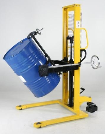 Wózek podnośnikowy ręczny do beczek GermanTech (udźwig: 350 kg) 99724853