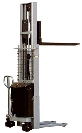 Wózek podnośnikowy z częściowym napędem elektrycznym (maszt pojedyńczy, wysokość podn. maks: 1600mm, udźwig: 1000 kg) 310511