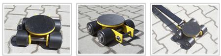 Wózek skrętny 4 rolkowy, rolki: 4x kompozyt (nośność: 4 T) 12235600