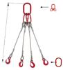 IMPROWEGLE Zawiesie linowe czterocięgnowe miproSling T 23,5/16,5 (długość liny: 1m, udźwig: 16,5-23,5 T, średnica liny: 32 mm, wymiary ogniwa: 340x180 mm) 33948496